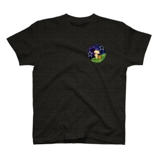 星空を散歩するネコ。 T-shirts