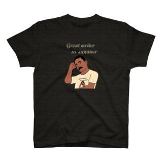 夏の文豪Tシャツを着た夏の文豪(濃色用) T-shirts