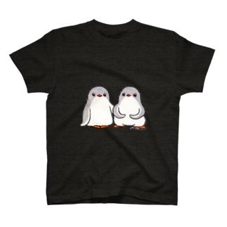 ふたごのジェンツーペンギン(ロゴなし) T-shirts