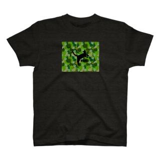 NYANKO 迷彩 カモフラ グリーン カーキ T-shirts