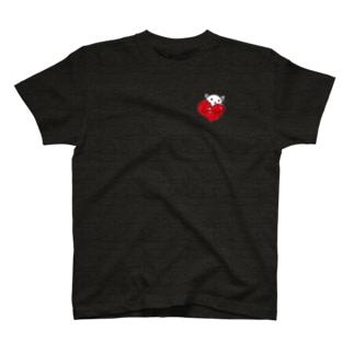 小4作ハートねこ T-shirts