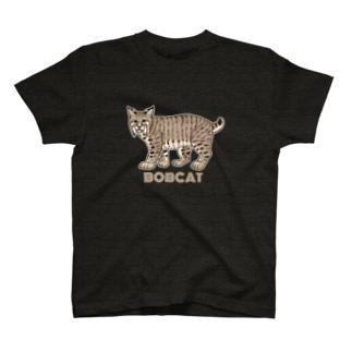 野生のにゃん・ボブキャット T-Shirt