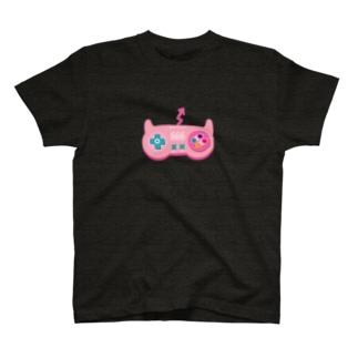 悪魔なコントローラー(ピンク) T-shirts