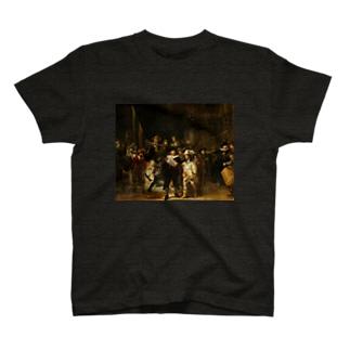 ネブカプロの【名画ドカ盛り】ドカ盛りで夜警へ T-Shirt