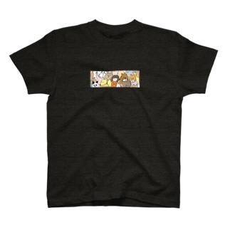 suzuharu_no_goodsの満員モフモフ T-shirts
