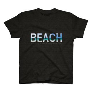BEACH Tシャツ T-shirts