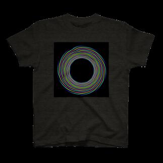 真夜猫の電子螺旋銀河 Tシャツ