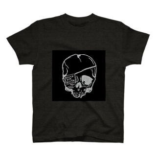 Broken Skull black ver T-shirts