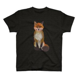 ふさ尾っぽキタキツネ T-shirts