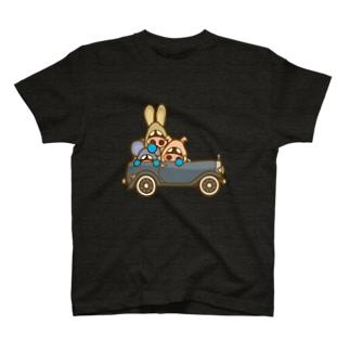 イタダキ団のクラシックカー T-shirts