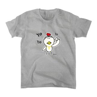 にわ とり男【Yo】 Tシャツ