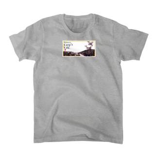 琳派なコーギー Tシャツ