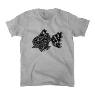 "Animalia Kinky "" Black Gold Fish "" Tシャツ"