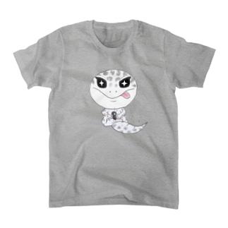 おすわりレオパ(ごましおくん) T-Shirt