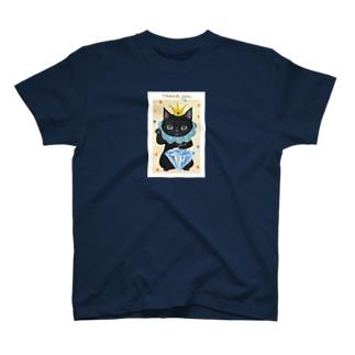 まねきねこ黒 Tシャツ