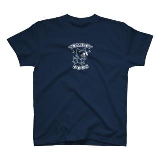 【濃い色Tシャツ】ちょいワル犬♪ Tシャツ