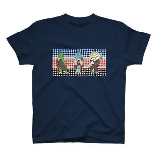 御あつらへ三色キャラ Tシャツ