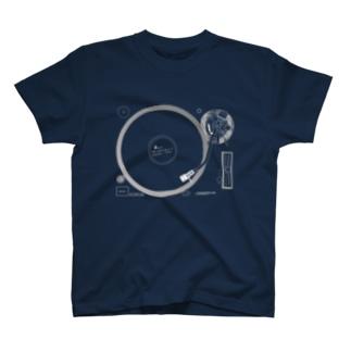 悲しいブルースのレコード(反転色) Tシャツ