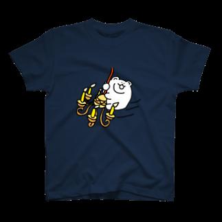 ふりふら@森クマのシャンデリくまTシャツ