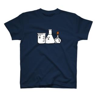 ビーカーくんとそのなかまたちロゴ Tシャツ