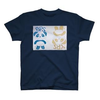イエローパンダ&ブルーパンダ Tシャツ