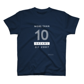 MORE THAN 10 DREAMS OF 2007(ボーダー柄/反転カラー) Tシャツ