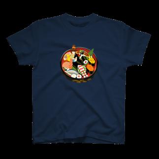 - さらさら -の寿司娘 Tシャツ
