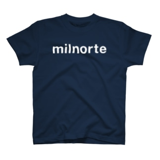 ミルノルテ白ロゴタイプ  Tシャツ