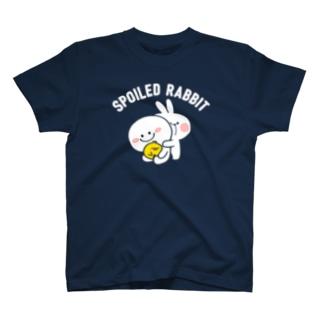 Spoiled Rabbit (For Deep Coler) / あまえんぼうさちゃん (濃色用) Tシャツ