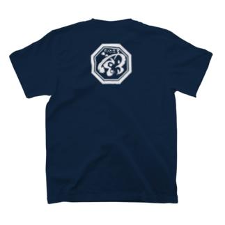 飛蝶連 「亀甲紋に蝶」 紺 黒 限定   T-shirts