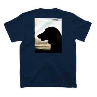夕日の犬。 T-Shirt