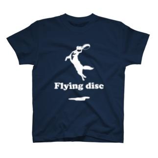 flying disc フリスビードック T-shirts