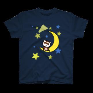 M&A withUの月とフェレット(セーブル) T-shirts