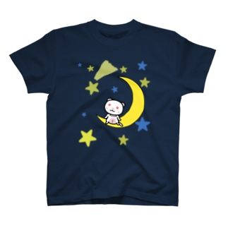 月とフェレット(アルビノ) T-shirts