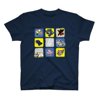 もけもけ青 T-shirts