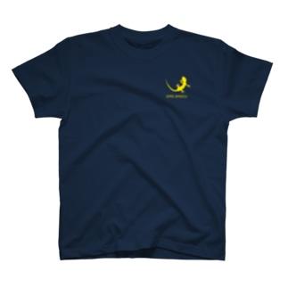 ヤモリ シルエット ロゴ ( イエロー ) T-shirts