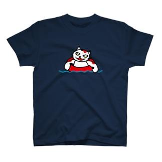 【前田デザイン室 ニャン-T プロジェクト】前田デザイン室 じゃみぃの夏 T-shirts