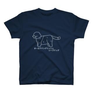 オールドイングリッシュシープドッグ 白 T-shirts