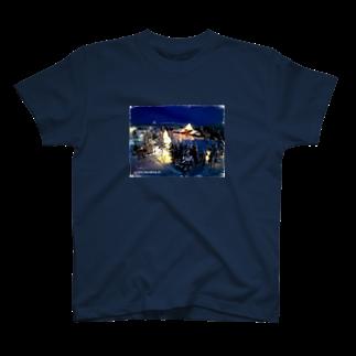 Shop imuhataのサンタの住む村 T-shirts