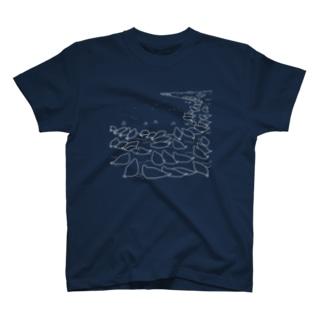 アザラシTシャツ(上陸するアザラシ)(白) T-shirts