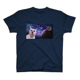 宇宙猫と宇宙ハムスター T-Shirt