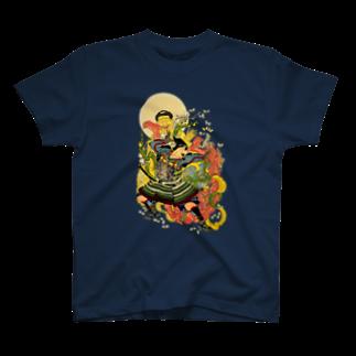 yoneumiの新形三十六怪撰 蒲生貞秀臣土岐元貞甲州猪鼻山魔王投倒図 T-shirts