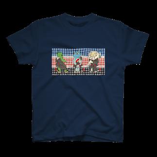 有明ガタァ商会の御あつらへ三色キャラ T-shirts