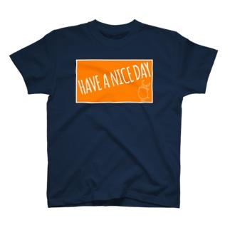 PIGGIE-PIGGY / HAVE A NICE DAY (orange) T-shirts