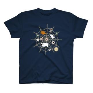 Spiderwebでべらと羊 T-shirts