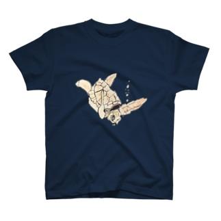 マシャの亀 T-shirts