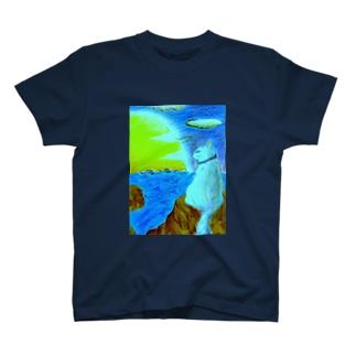 港ねこ・明朝 T-shirts