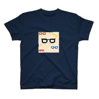ドット メガネ T-shirts