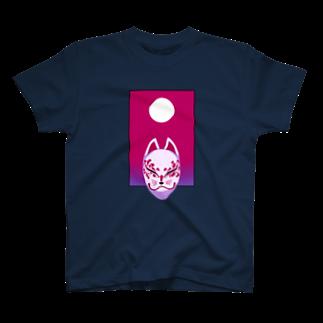 ATELIER FEEL LIKEのBYAKKO~狐面~ 桜花 T-shirts