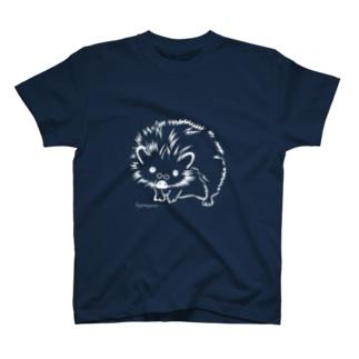 ハリネズミ ヒゲメガネ T-shirts